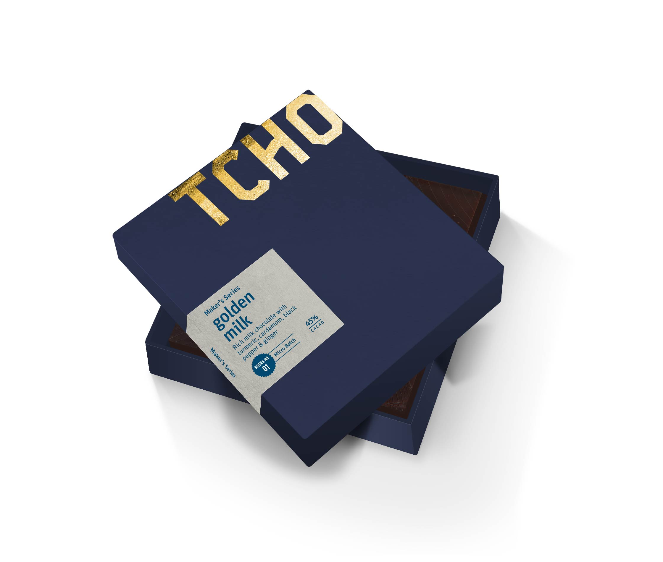 Packaging design for Tcho chocolate maker's series