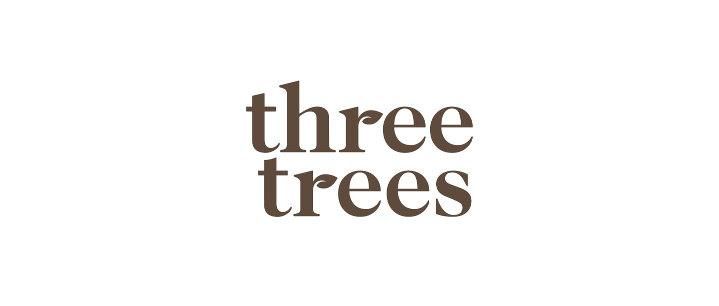 Logo Redesign for Three Trees Almond Milk Brand experience