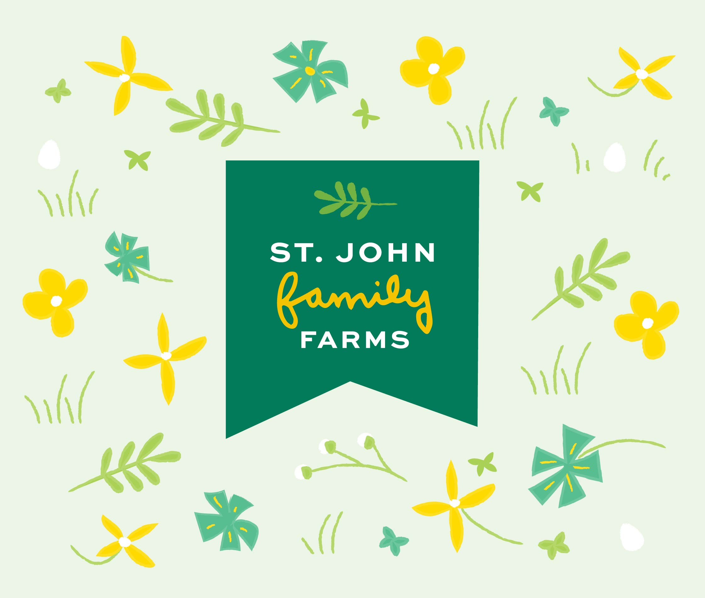 Logo for St John Family Farm's Outdoor Hens packaging