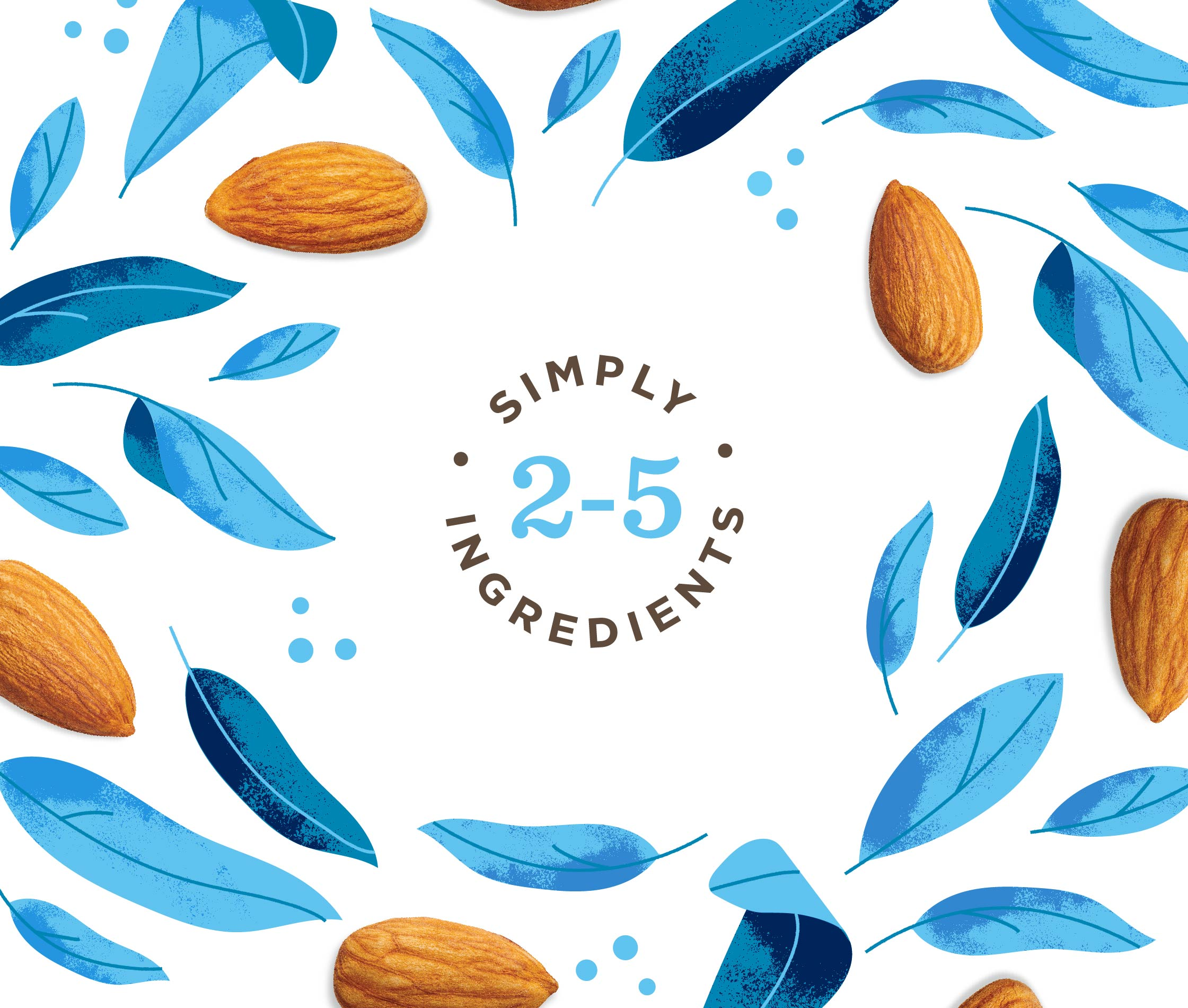 Illustration Design for Three Trees Almond Milk Brand